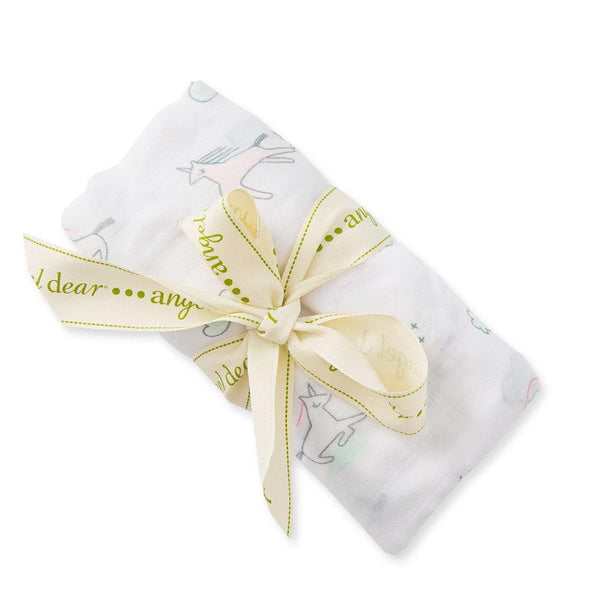 Angel Dear Happy Unicorn Bamboo Swaddle Blanket - Frolicstyle
