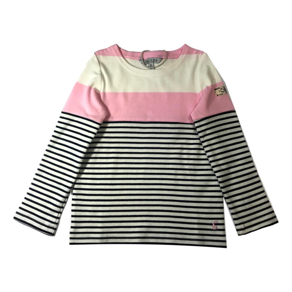 Joules Harbour Jersey Pink Striped Top - Frolicstyle