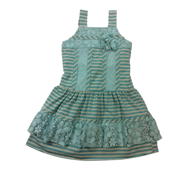 Isobella and Chloe June Bug Blue Sleeveless Dress - Frolicstyle