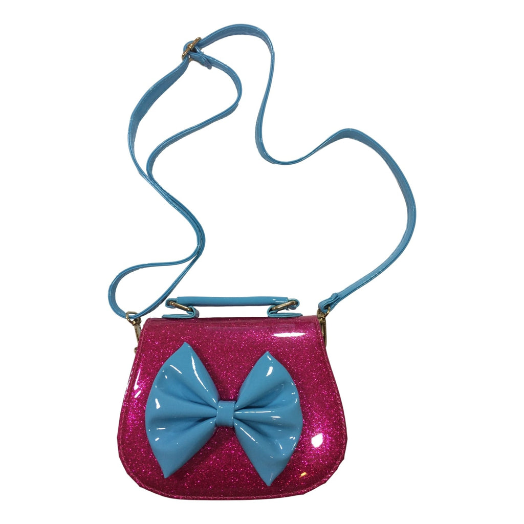 Doe a Dear Girls Fuchsia Glitter Pocketbook - Frolicstyle