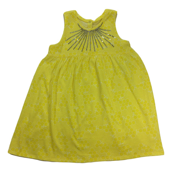 Egg Baby Zenia Yellow Sleeveless Dress - Frolicstyle
