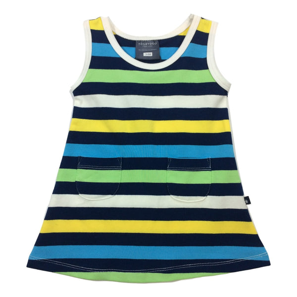 Toobydoo Sleeveless Striped Baby Tank Dress - Frolicstyle