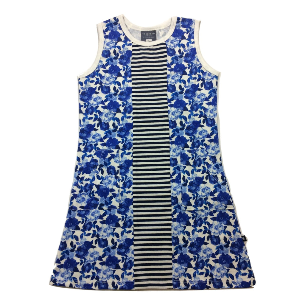 Toobydoo Alexia Blue Sleeveless Dress - Frolicstyle