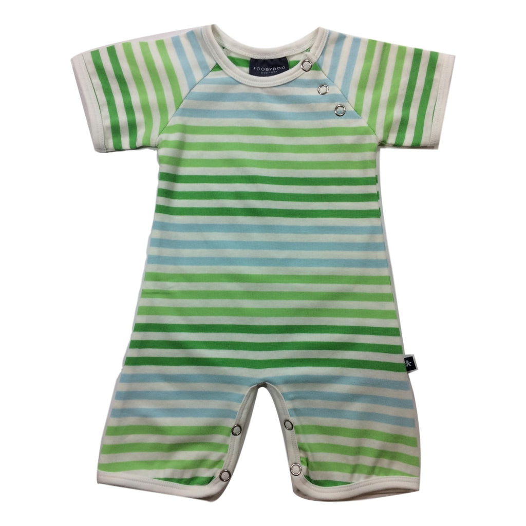 Toobydoo Green Striped Shortie Jumpsuit - Frolicstyle