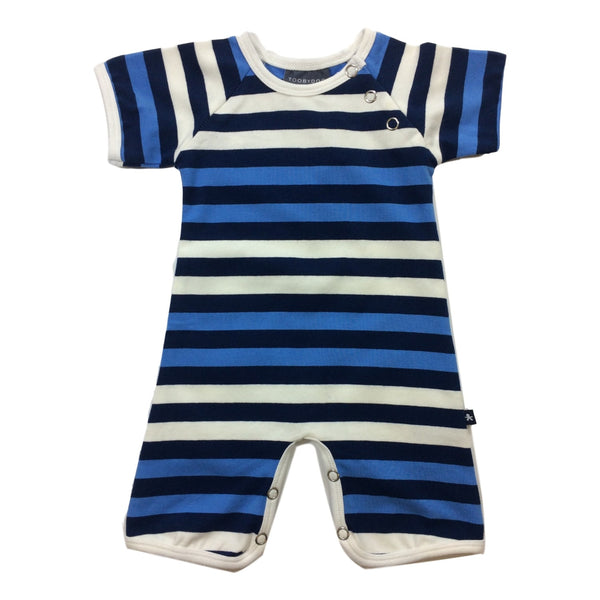 Toobydoo Navy Stripe Shortie Jumpsuit - Frolicstyle