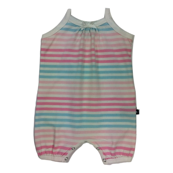 Toobydoo Sleeveless Pink Striped Romper - Frolicstyle