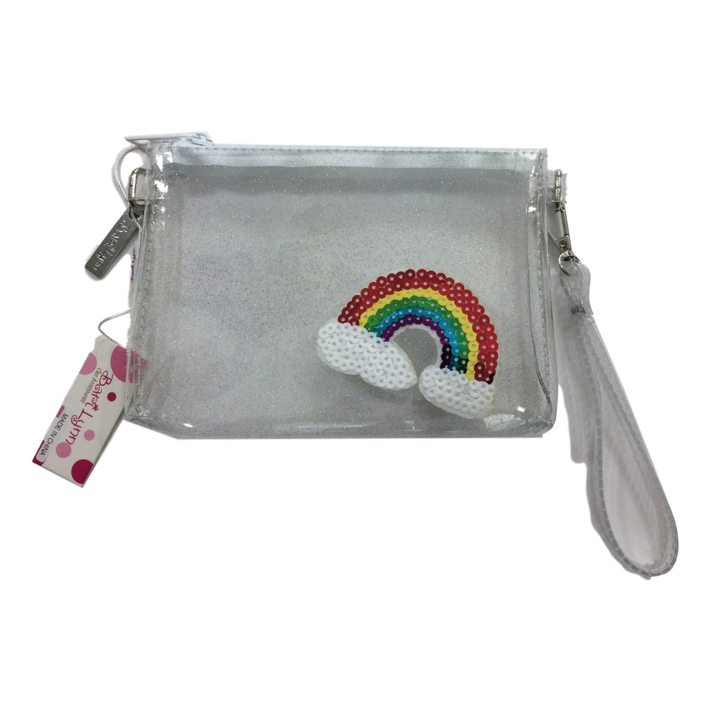 Bari Lynn Clear Glitter Jelly Rainbow Emoji Pocketbook - Frolicstyle