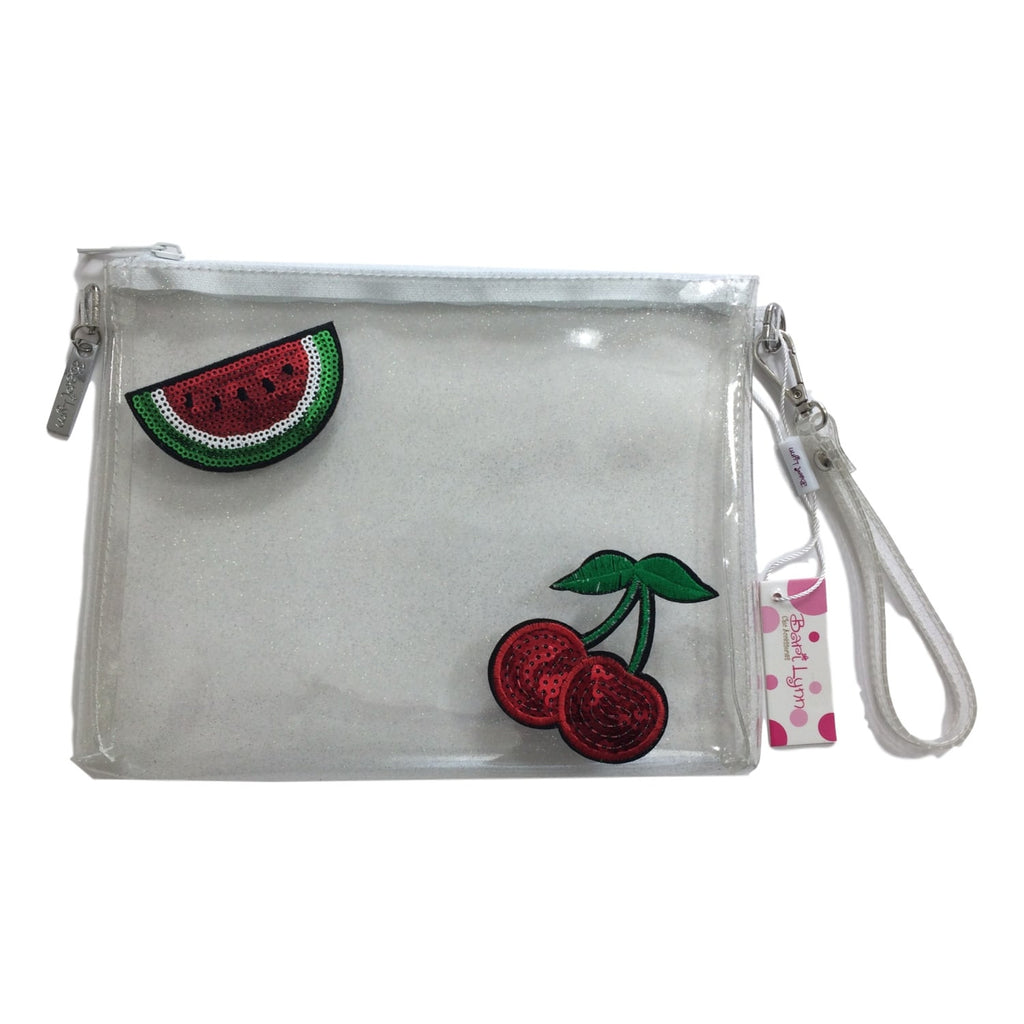 Bari Lynn Clear Glitter Jelly Cherry and Watermelon Emoji Pocketbook - Frolicstyle