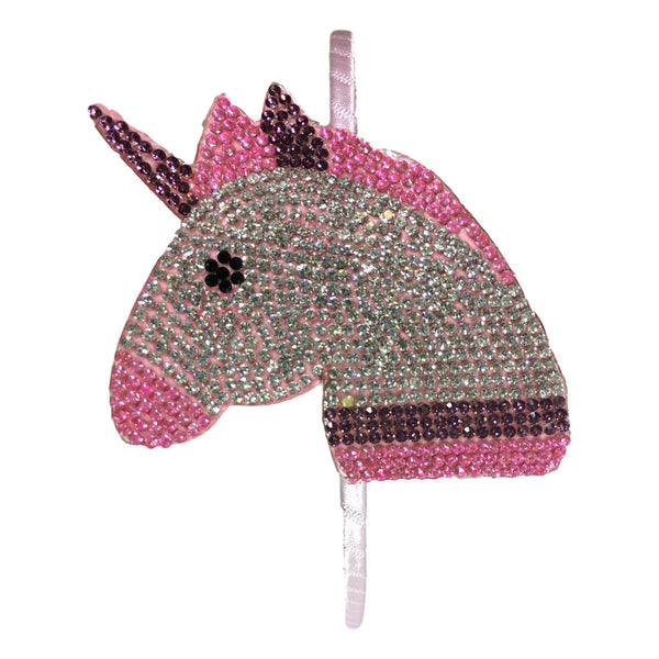 Bari Lynn Girls Horse Emoji Studded Headband