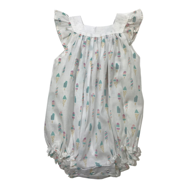 Feather Baby Sleeveless Ice Cream Romper - Frolicstyle