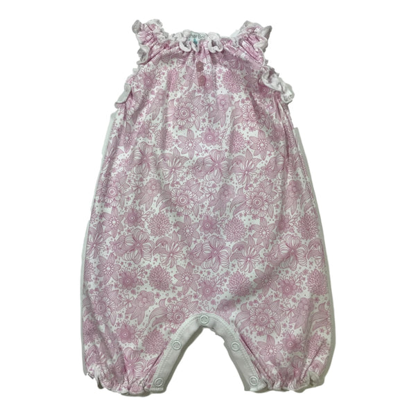 Feather Baby Sleeveless Romper In Hot Pink - Frolicstyle