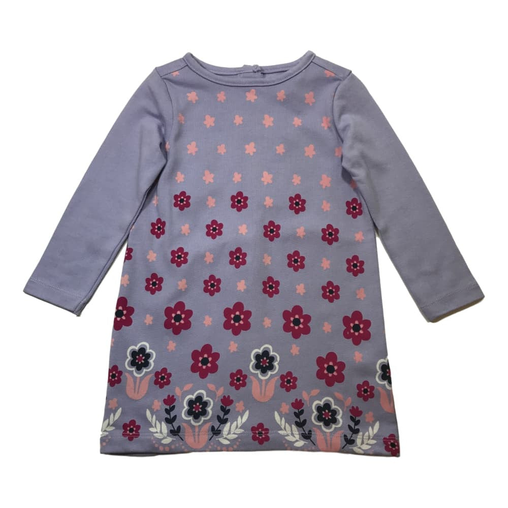Hatley Girls Retro Pink Daisy Long Sleeve Mod Dress - Frolicstyle