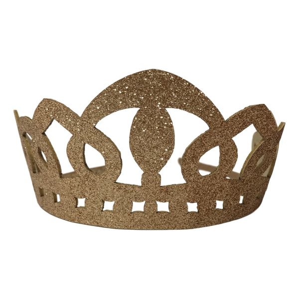 Couture Clips Gold Glitter Tiara Crown - Frolicstyle