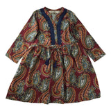 Jak and Peppar Lolla Dress in Burgundy Paisley - Frolicstyle