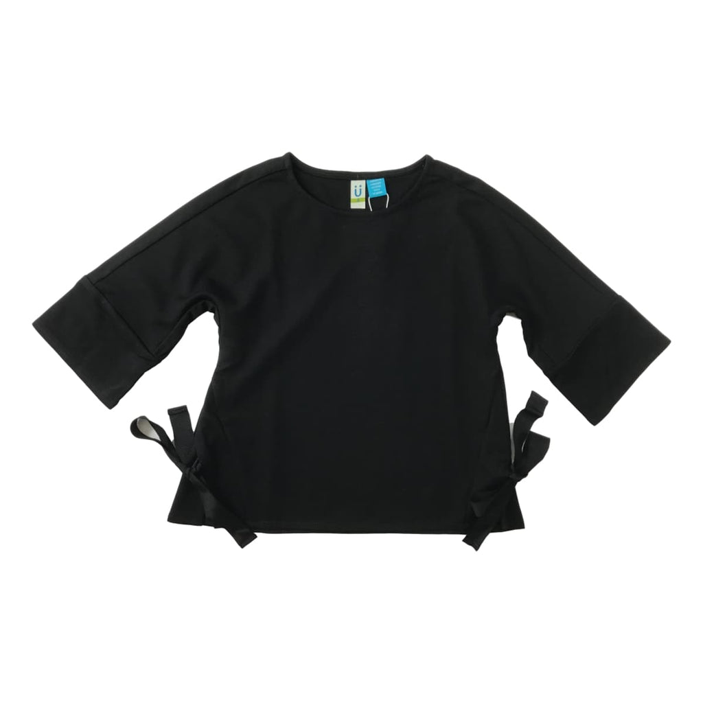Blu By Blu Black Knit 3/4 Sleeve Top - Frolicstyle