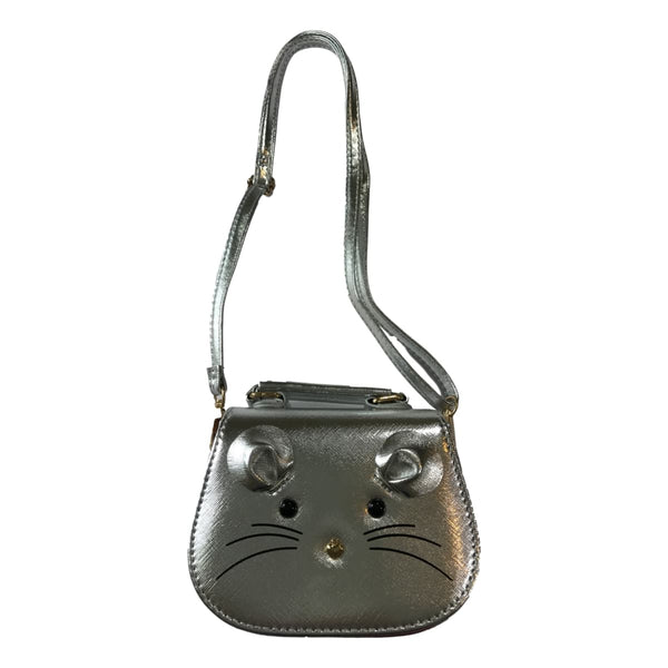 Doe a Dear Silver Mouse Bag With Shoulder Strap - Frolicstyle