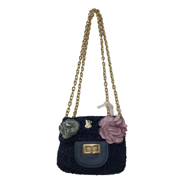 Doe a Dear Cross Body Blue Tweed Bag - Frolicstyle