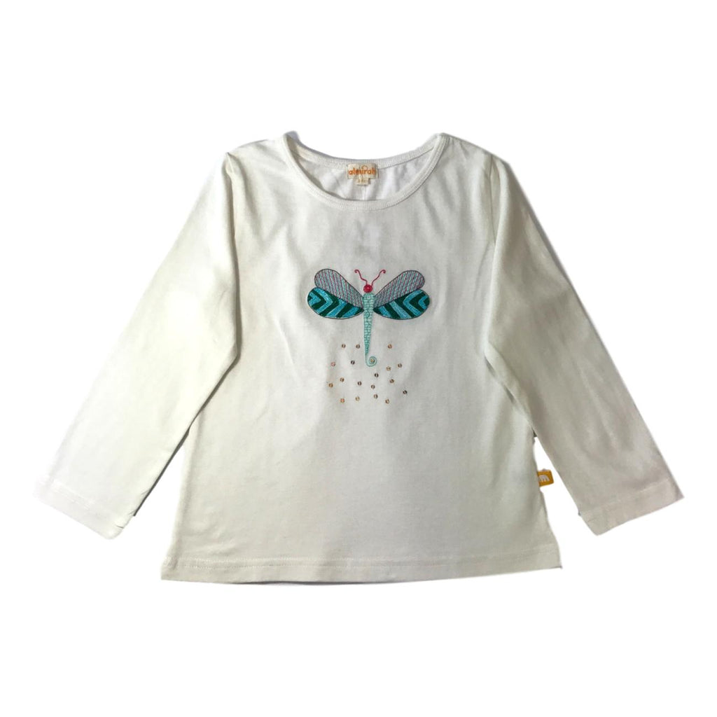 Almirah Embroidered Dragonfly Long Sleeve Shirt - Frolicstyle