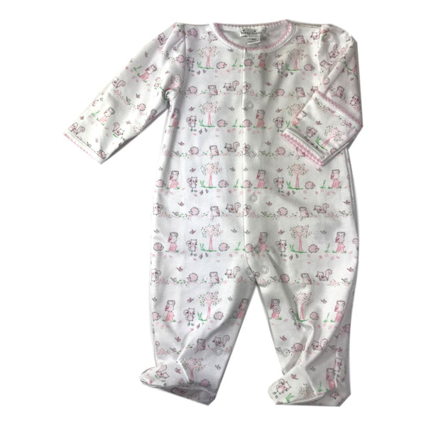 Kissy Kissy Long Sleeve Nature's Nursery Pink Footie - Frolicstyle