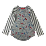 Joules Grey Bulldog Hotchpotch Girls Top - Frolicstyle