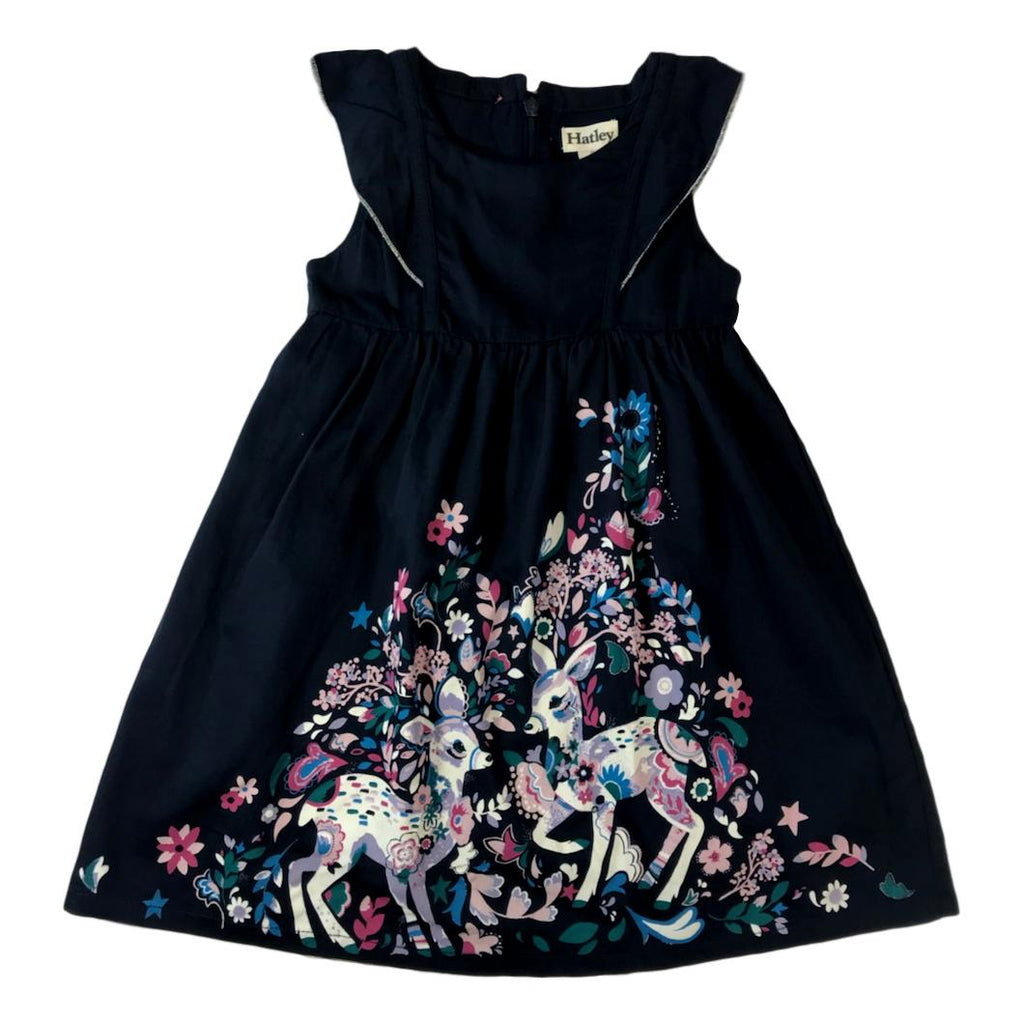 Hatley Girls Woodland Fawns Flutter Sleeve Dress - Frolicstyle