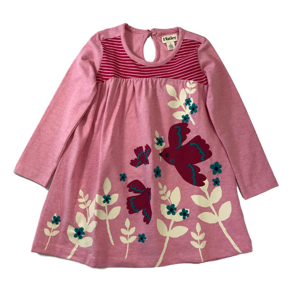 Hatley Girls Cardinal Meadow Long Sleeve Dress - Frolicstyle