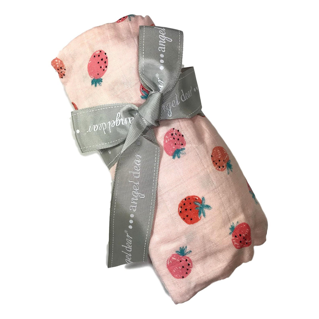 Angel Dear Strawberry Swaddle Blanket - Frolicstyle