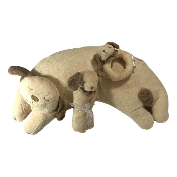 Angel Dear Brown Puppy Lovie, Pillow and Rattle Combo