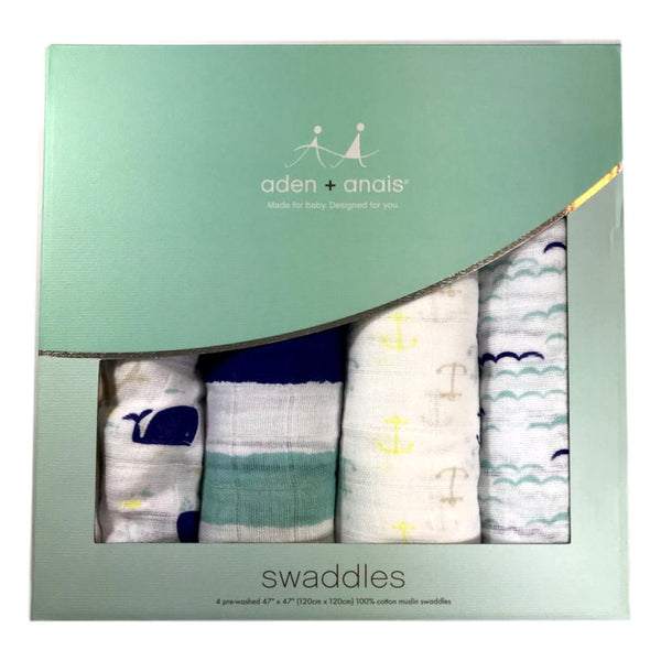 Aden + Anais High Seas 4-Pack Classic Swaddle - Frolicstyle