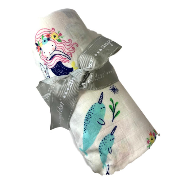 Angel Dear Mermaid and Friends Swaddle Blanket - Frolicstyle