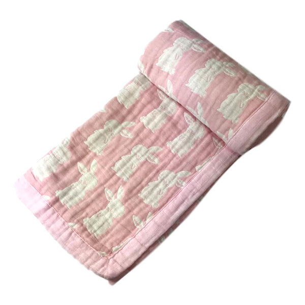 "Angel Dear 46"" x 38"" Pink Bunny Jacquard Blanket - Frolicstyle"