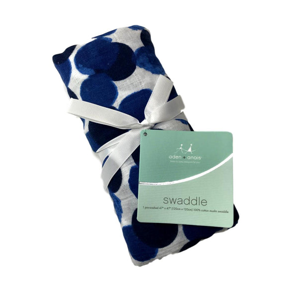 Aden + Anais Seafaring Aqua Dot Classic Swaddle - Frolicstyle