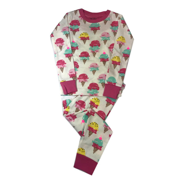 Hatley Ice Cream Treats Girls Two Piece Organic Cotton Pajamas