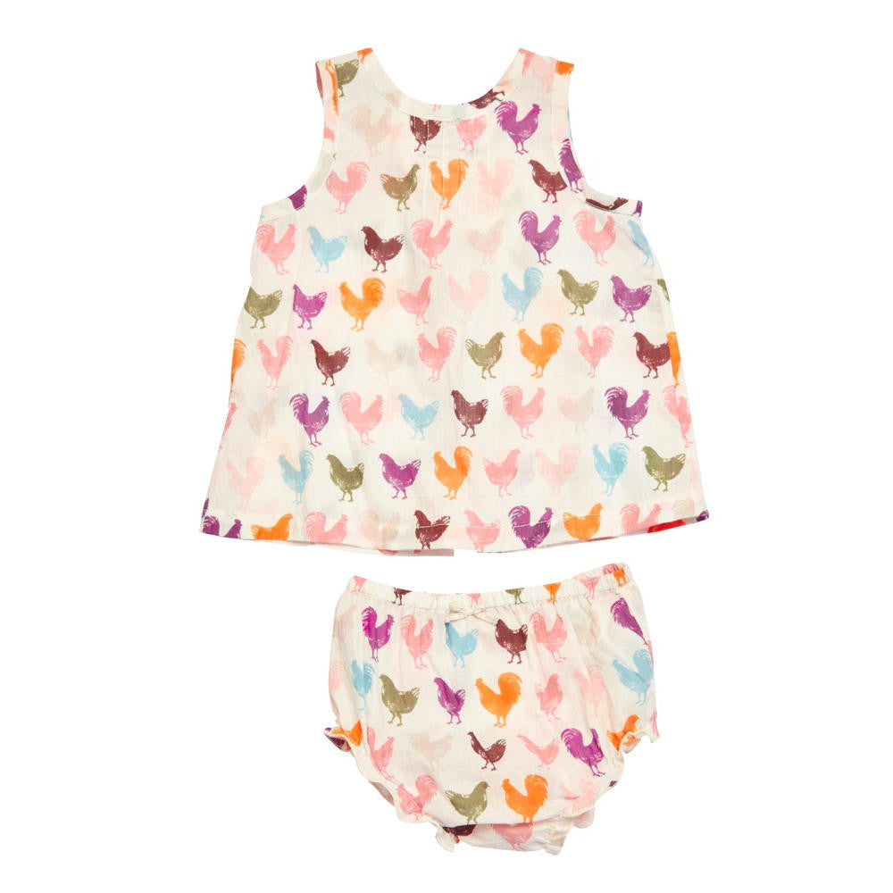 Pink Chicken Jaipur Sleeveless Two Piece Set - Frolicstyle