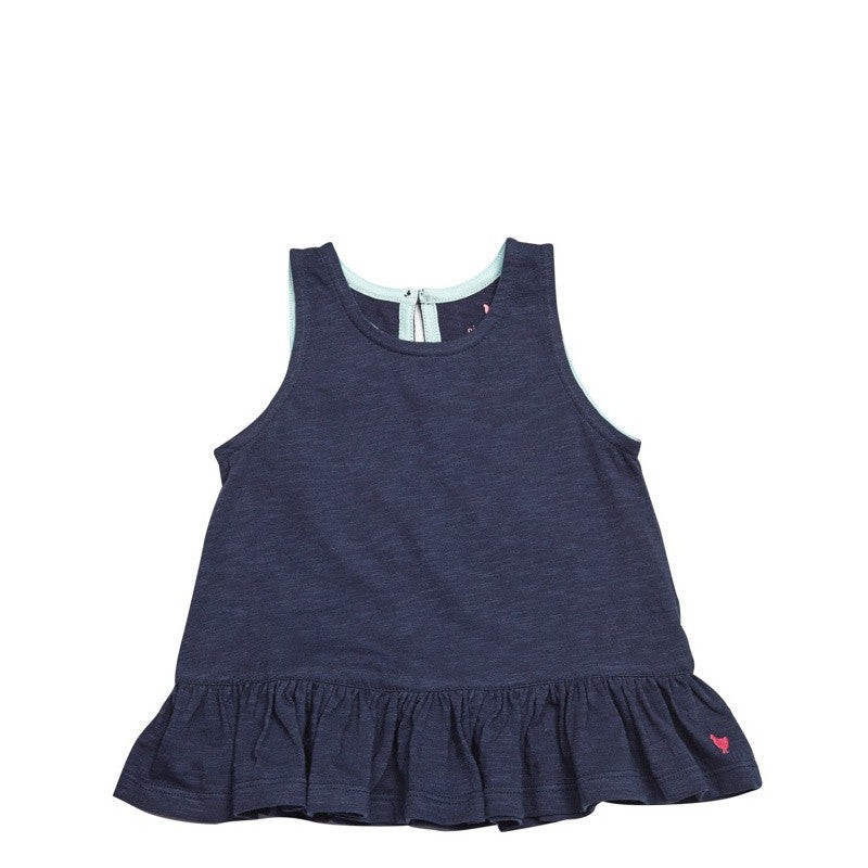 Pink Chicken Joy Sleeveless Navy Top - Frolicstyle