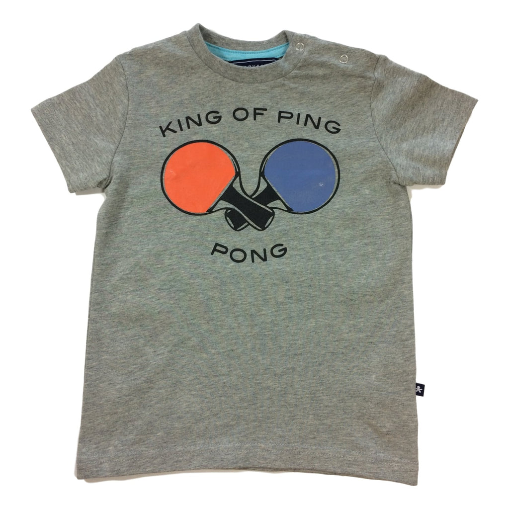 Toobydoo Short Sleeve King of Ping Pong Graphic Tee - Frolicstyle