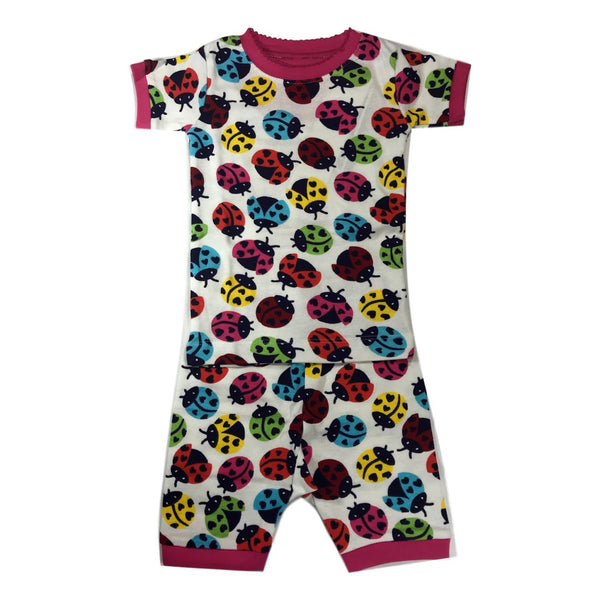 Hatley Rainbow Ladybugs Girls Two Piece Organic Cotton Pajamas