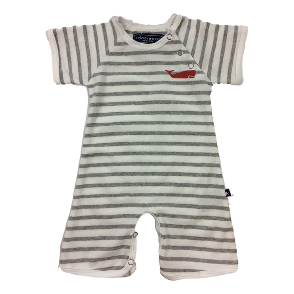 Toobydoo Little Whale Short Sleeve Romper - Frolicstyle