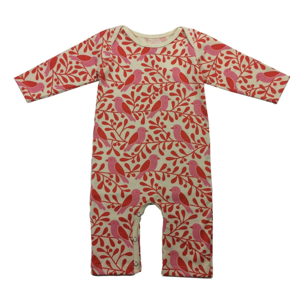 Winter Water Factory Birds and Berries Long Sleeve Romper - Frolicstyle