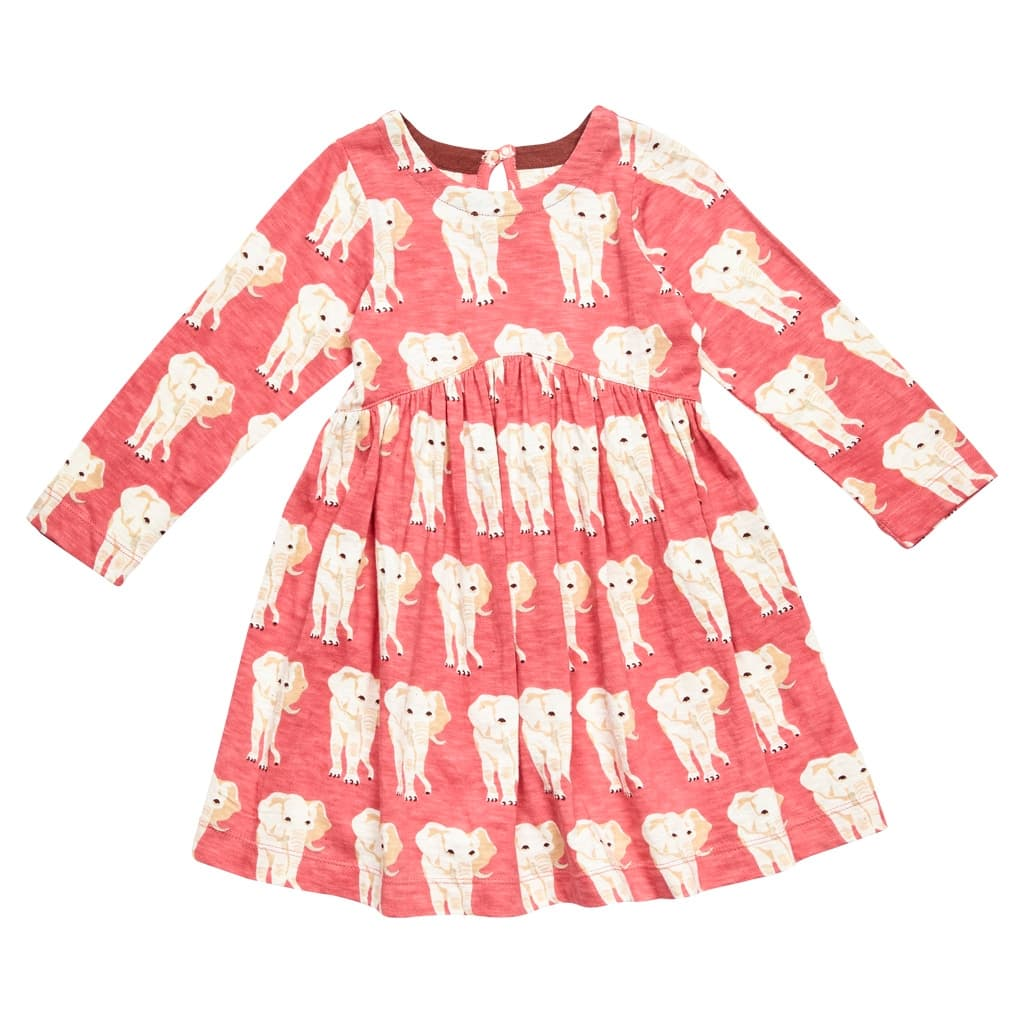 Pink Chicken Louise Rapture Rose Elephant Print Dress - Frolicstyle
