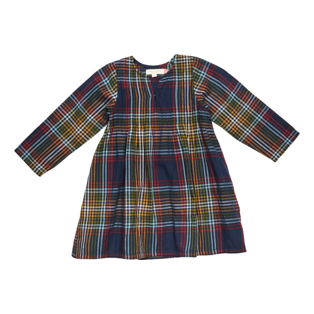 Pink Chicken Madeline Vintage Plaid Long Sleeve Girls Dress - Frolicstyle