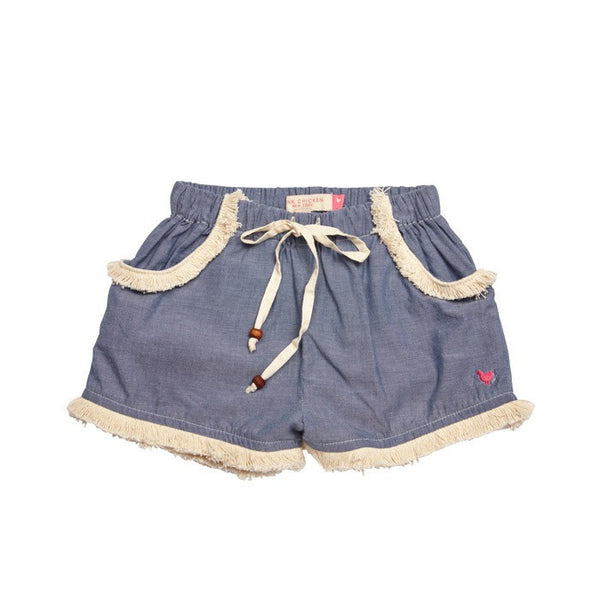 Pink Chicken Mercedes Chambray Shorts - Frolicstyle