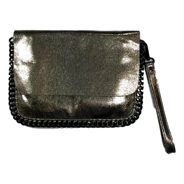 Bari Lynn Metallic Chain Bag - Frolicstyle