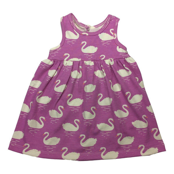 Winter Water Factory Oslo Baby Sleeveless Dress in Swan Magenta - Frolicstyle