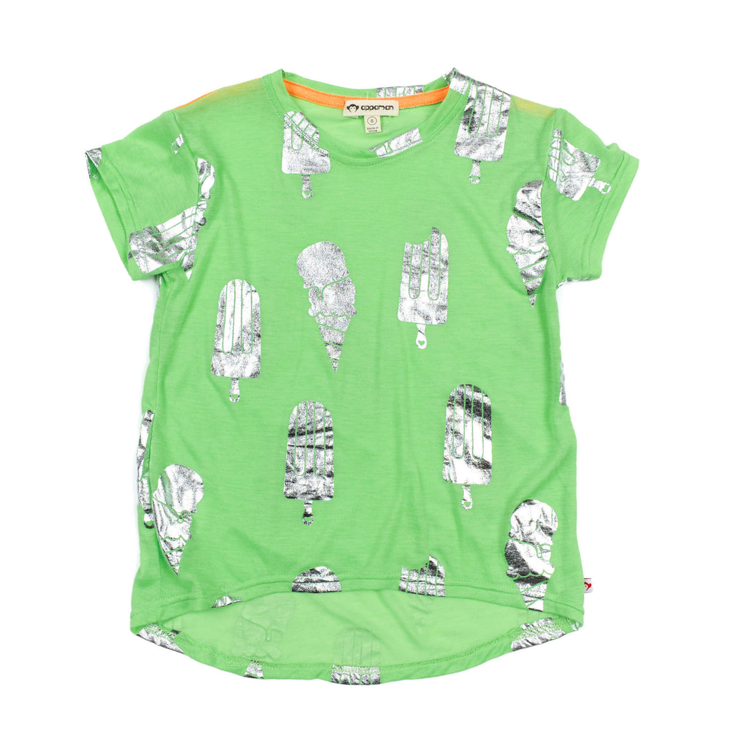 Appaman Green Short Sleeve Tee Ice Cream Graphic - Frolicstyle