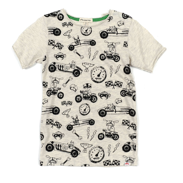 Appaman Baby Short Sleeve Graphic Tee - Ready, Set, Go! - Frolicstyle