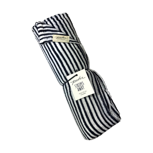 Pehr Stripes Away Swaddle - Ink - Frolicstyle