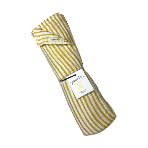 Pehr Stripes Away Swaddle - Marigold Yellow - Frolicstyle