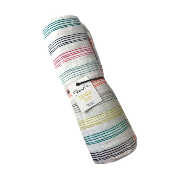 Pehr Rainbow Stripe Swaddle - Frolicstyle