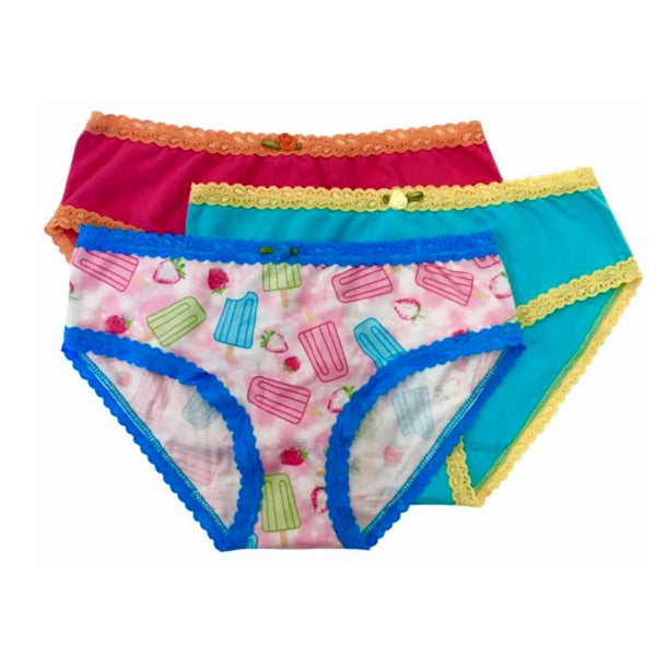 Esme Girls 3 Pack Underwear - Pink Popsicle - Frolicstyle